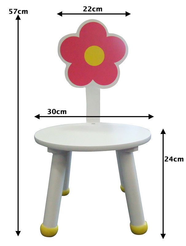 childrens play table and 2 chairs set flower design childrens