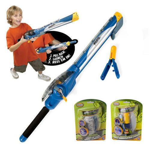 Kids rocket launcher fishing rod with bonus lure and float for Rocket rod fishing pole
