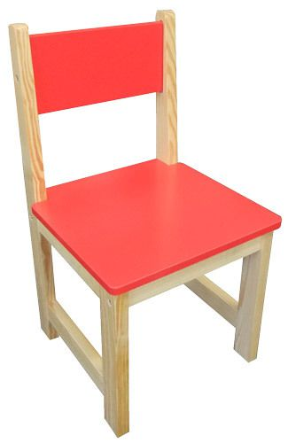 Wooden Rectangle Table 2 Chairs Set Red Nanny Annie