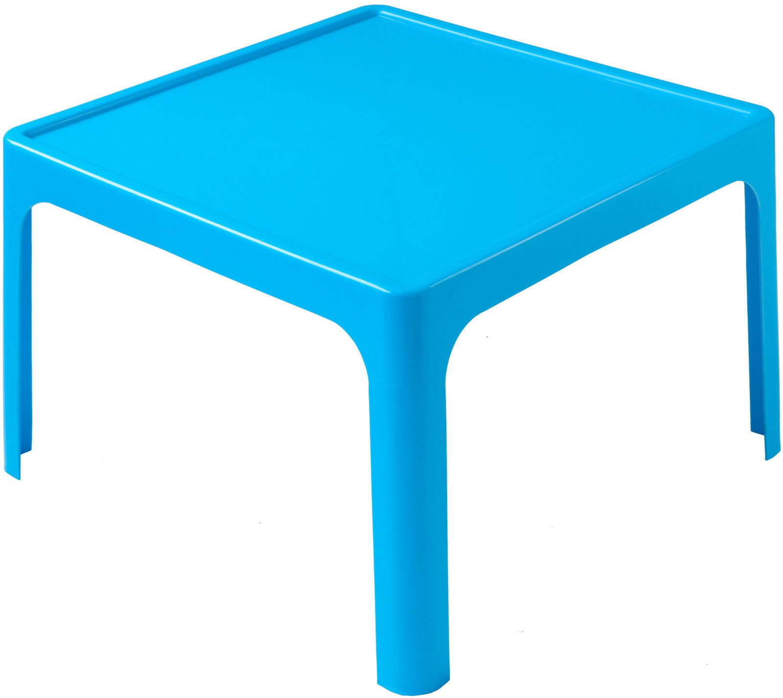 Childrens Table  4 Chair Set Resin Plastic Stackable BLUE Kids