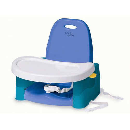 Booster Seat with Swing Tray Blue White Baby Portable