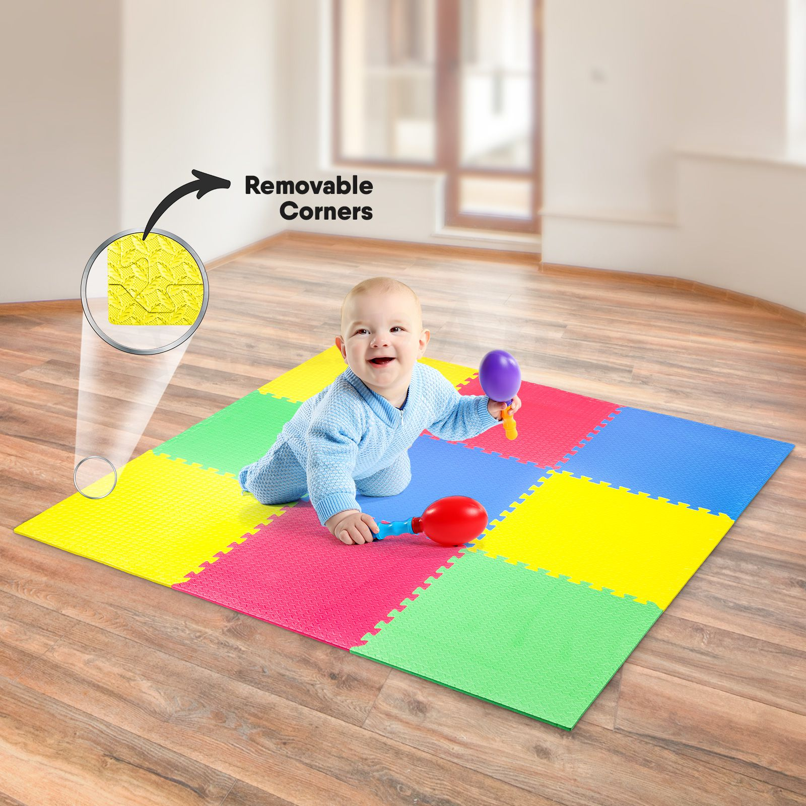 Baby EVA Play Mat (9 Pieces) (1.8m X 1.8m)
