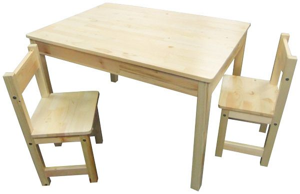 Childrens Natural WOOD Table   2 Chairs Rectangle Kids Dining Set   Nanny  Annie. Childrens Natural WOOD Table   2 Chairs Rectangle Kids Dining Set