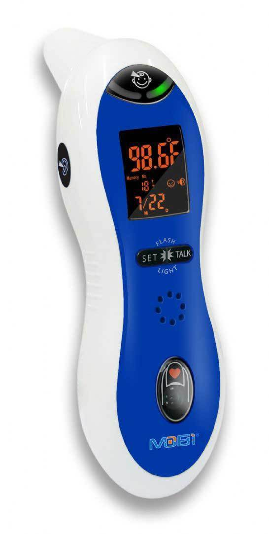 mobi ear and forehead thermometer instructions
