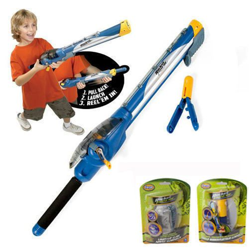 Kids rocket launcher fishing rod with bonus lure and float for Fishing rod for kids