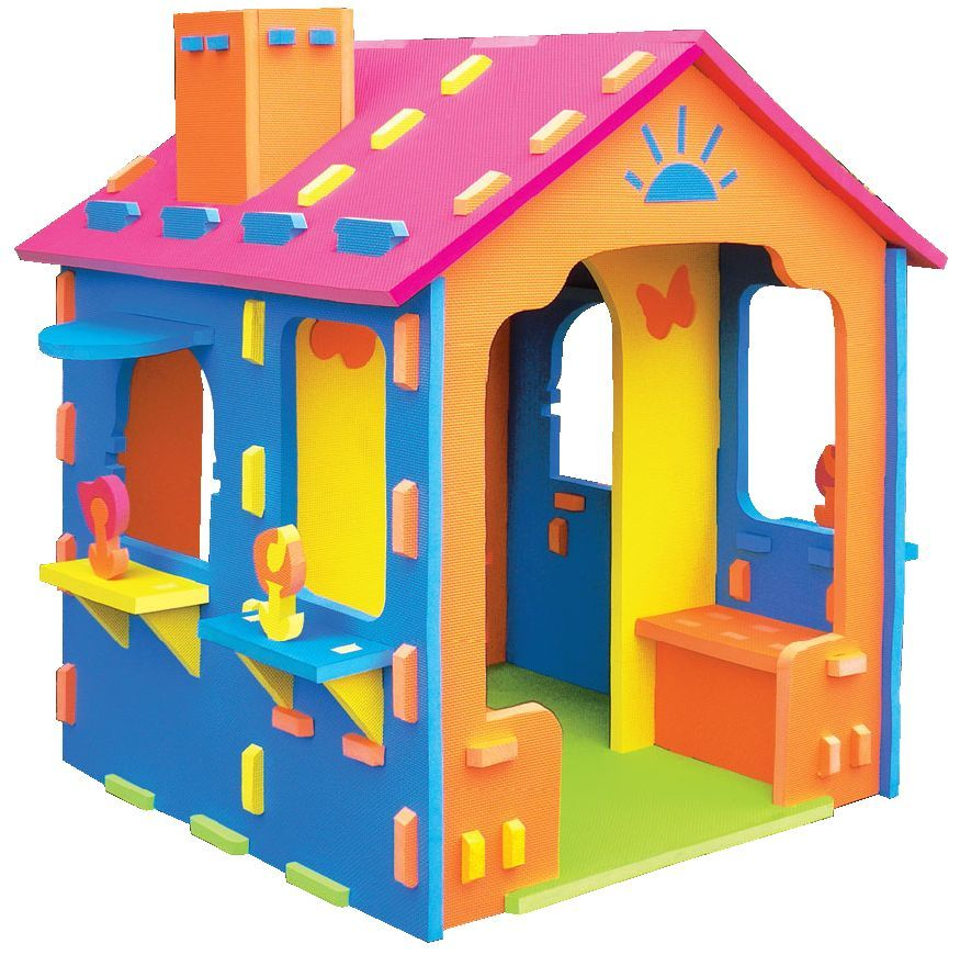 Kids Cubbyhouse Foam House With Chimney Nanny Annie