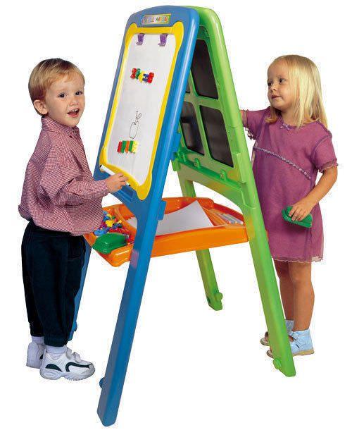 Kids Artist Easel | Activity Easel for 2 | Magnetic Whiteboard Easel ...