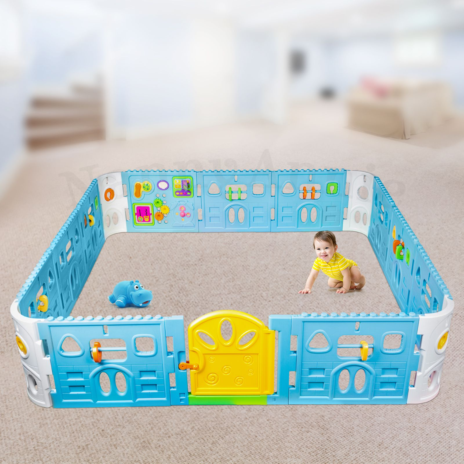 Baby Playpen With Door - Super Giant Interactive Play Room 2.3 x 2.3m - Nanny Annie & Baby Playpen With Door - Super Giant Interactive Play Room 2.3 x 2.3 ...