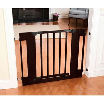 Baby Safety Swing Gate + 2 Extensions Wood Home Decor First Years 74-104cm