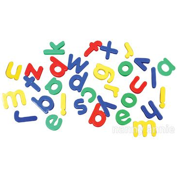 Classic Craft Chunky Alphabet Magnets | Lower Case Alphabet Letters