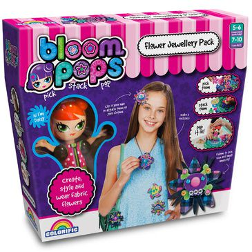 Kids Jewellery Craft Kit Bloom Pops Flower Jewellery Pack Childrens Crafts