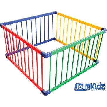 Jolly KidZ Smart Playpen - Square Coloured | Wooden Playpens