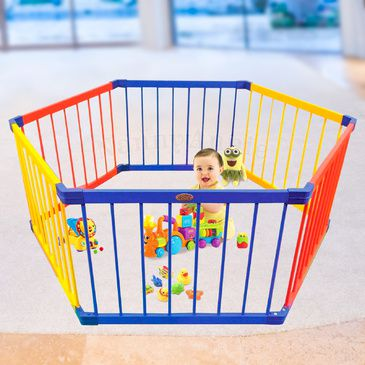 Jolly KidZ Smart Playpen - Hexagonal Coloured