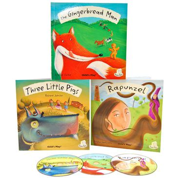 Kid's Fairy Tale Books | Set of 3 (Rapunzel, Gingerbread Man, Three Little Pigs)