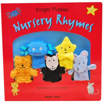 Nursery Rhymes Book with Finger Puppets | Kid's Early Reading Book