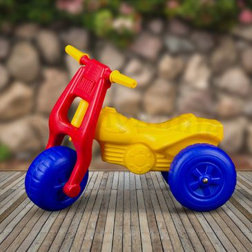 Dune Buggy Ride-On Tricycle | Kids Red/Yellow Tricycle