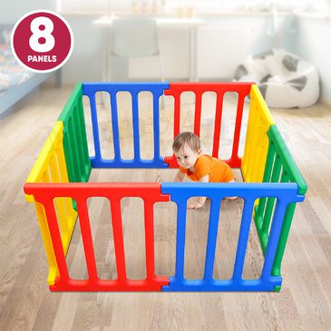 Happy Panel Plastic Playpen | Square Kids Playpen 1.1m x 1.1m