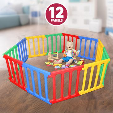Happy Panel Plastic Playpen | Hexagonal (2.2m) Kids Playpen