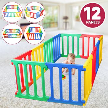 Happy Panel Plastic Playpen | Rectangle 1.1m x 2.15m Kids Playpen