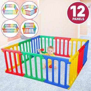 Happy Panel Plastic Playpen | Jumbo Square 1.65m x 1.65m Kids Playpen