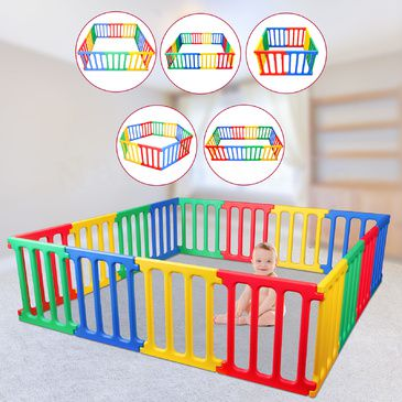 Happy Panel Plastic Playpen | 5 Playpens in 1 Super Playpen
