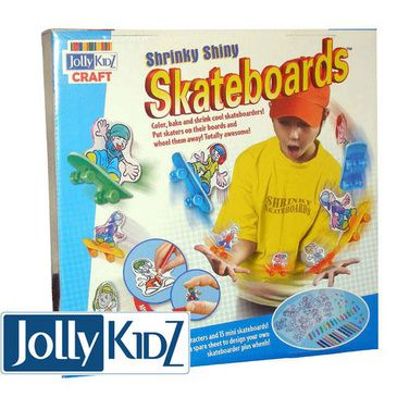 Jolly Kidz Craft Kit - Shrinky Shiny Skateboards