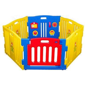 Baby Playpen - Blue 6pc with Gate