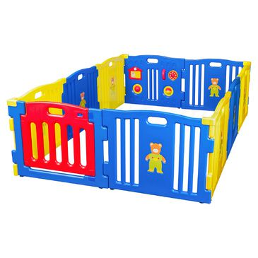 Giant Baby Playpen - Blue 10 Panels  with Gate