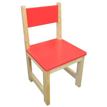 Childrens Wooden Chair - Red (Set of 2)