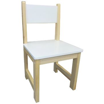 Childrens Wooden Chair - White (Set of 2)