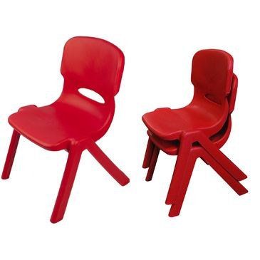 Resin Childrens Chair (Set of 2) (Red)
