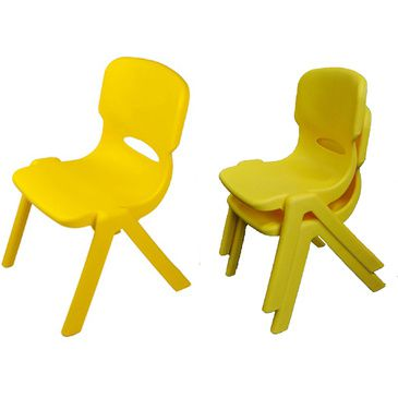Resin Childrens Chair (Set of 2) (Yellow)