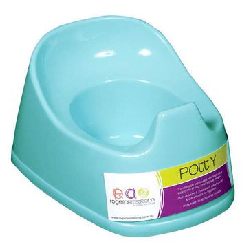 Basic Contoured Potty With Splash Guard Aqua Blue Roger Armstrong Toilet Training
