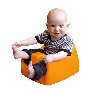Baby Floor Seat | Karibu Soft Safety Chair for Babies (Orange)