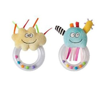Taf Toys - Set of 2 Ring Rattles for Baby