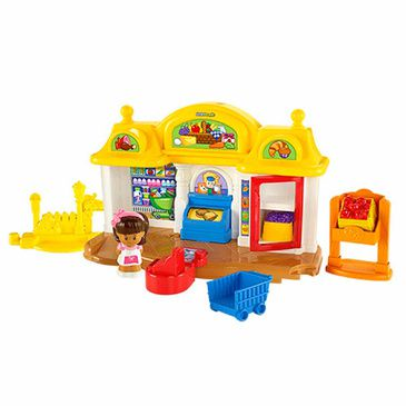 Fisher Price - Little People Corner Market Playset | Kids Play Set