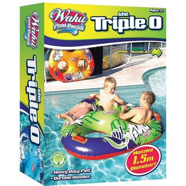 Wahu Pool Party Triple O Inflatable Ring - Inflatable Green Pool Toy