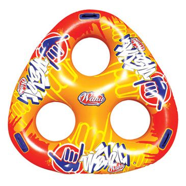 Wahu Pool Party Triple O Inflatable Ring - Inflatable Yellow Pool Toy