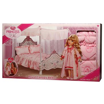 Disney - Disney Princess - Royal Canopy Bed - Doll Bed - Pretend Play