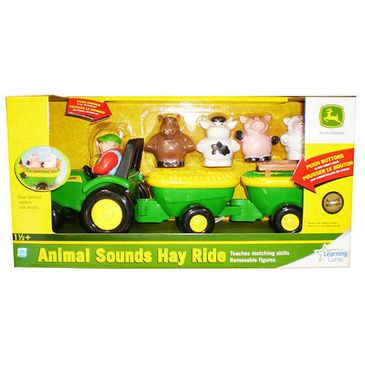 John Deere Kids Animal Sounds Hayride | Chunky Pull-Along Tractor
