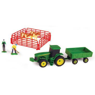 John Deere 10 Piece Mini Farm Set with Red Fence