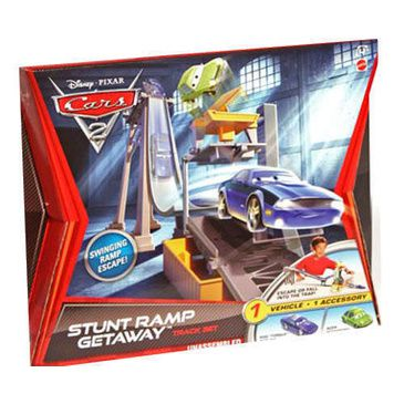 Disney Cars 2 Small Trackset - Stunt Ramp Getaway