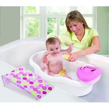 Newborn-to-Toddler Baby Bath Center & Shower - Circle Daisy