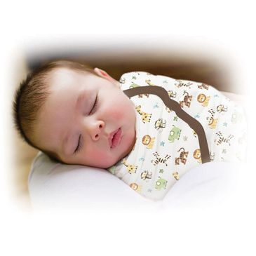 SwaddleMe - Small 'Graphic Jungle' Cotton Swaddle