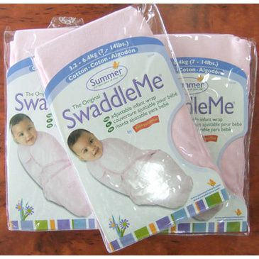 Bundle of 3 Swaddles - Small Pink Cotton SwaddleMe Wrap