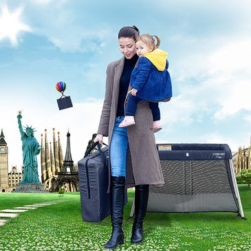 Amico Light Travel Cot Portacot - Navy