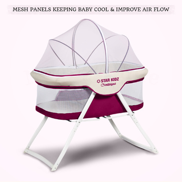 Star Kidz Compagno Baby Bassinet - Purple