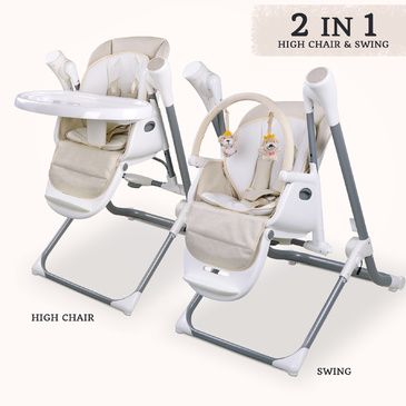Star Kidz Feathertop 2 in 1 Swing High Chair - Beige