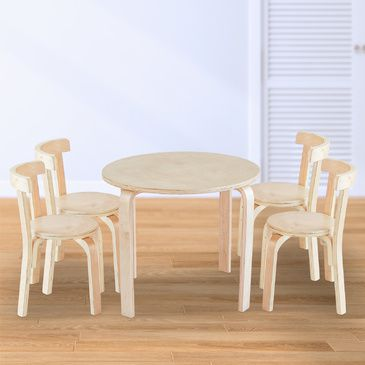Nu Hyams Table & 4 Chairs Set -  Natural