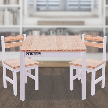Nu Elwood Square Table & 2 Chairs Set -  Inverted White